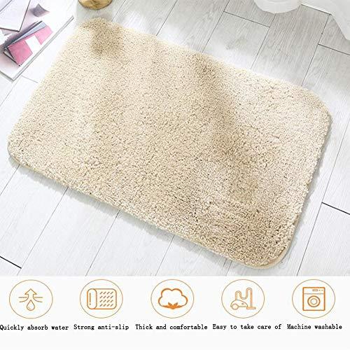 ZHOUAICHENG Flauschige Teppiche Anti-Rutsch-Yoga-Teppich für Wohnzimmer Schlafzimmer Badezimmer rutschfeste Bodenmatte Fußmatte Fußmatte Teppich,Beige,40x60cm