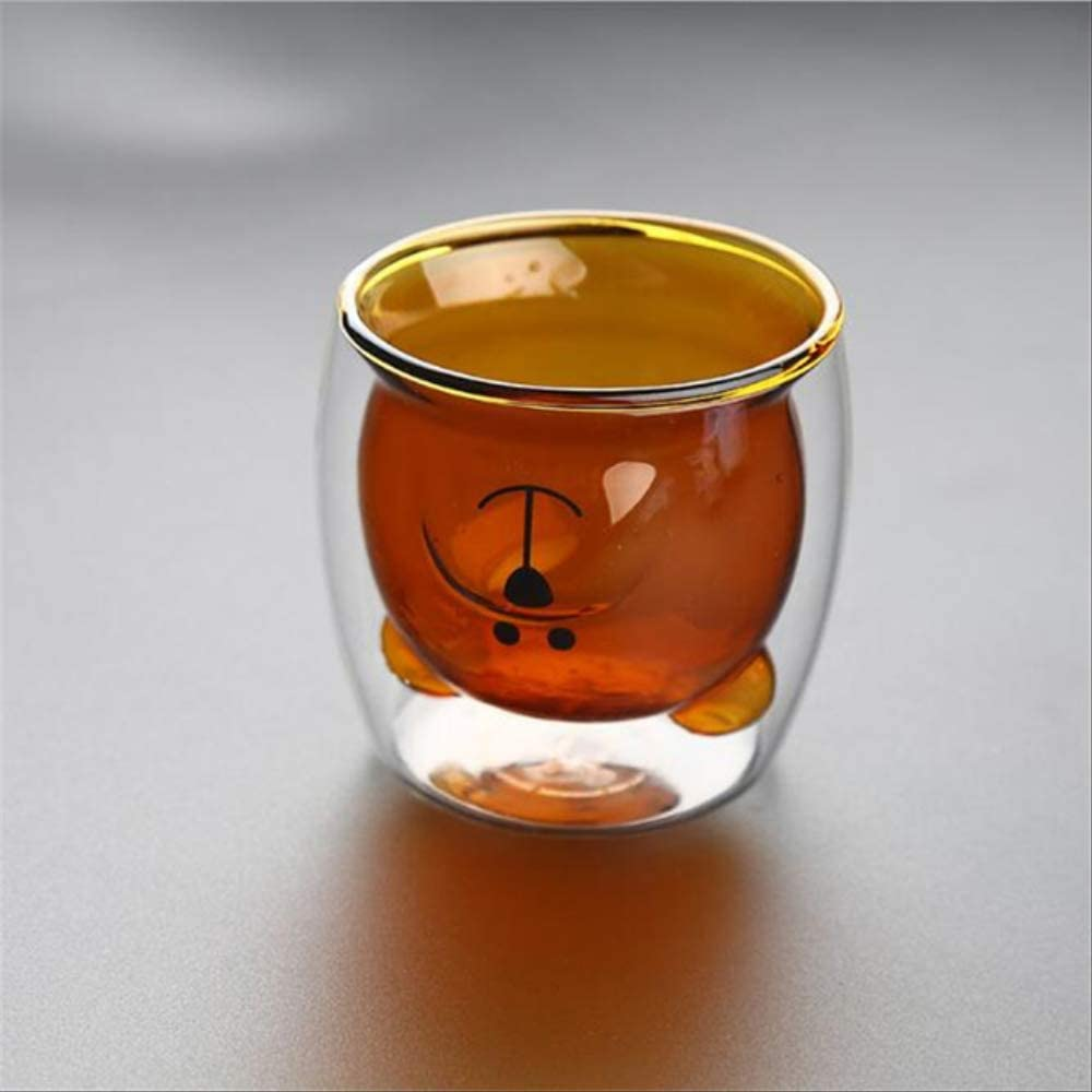 BAJIE Our shop OFFers the best service Coffee High quality Cupdouble Walls Creative Transparent Cartoon Glass