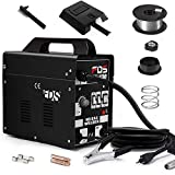 Goplus MIG 130 Welder AC Flux Core Wire Automatic Feed Welder Welding Machine w/Free Mask Commercial (Black)