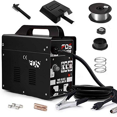 Goplus MIG 130 Welder Flux Core Welding Machine (Black)