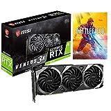 MSI GeForce RTX 3070 Ventus 3X OC Gaming Video Card, 8GB GDDR6, PCIe 4.0, 8K, VR Ready, Ray Tracing, 1x HDMI 2.1, 3X DisplayPort 1.4, Triple Fans, HDCP, Battlefield V