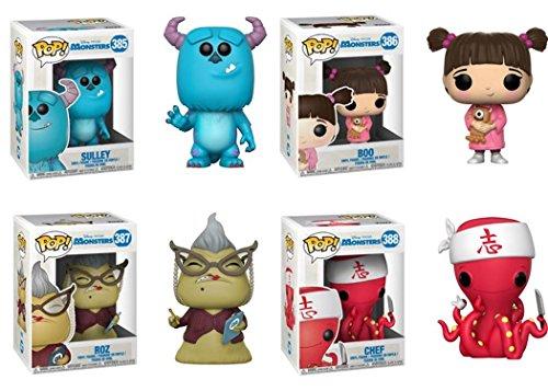 Funko POP! Disney: Monstruos S.A.: Sulley + Boo + Roz + Chef