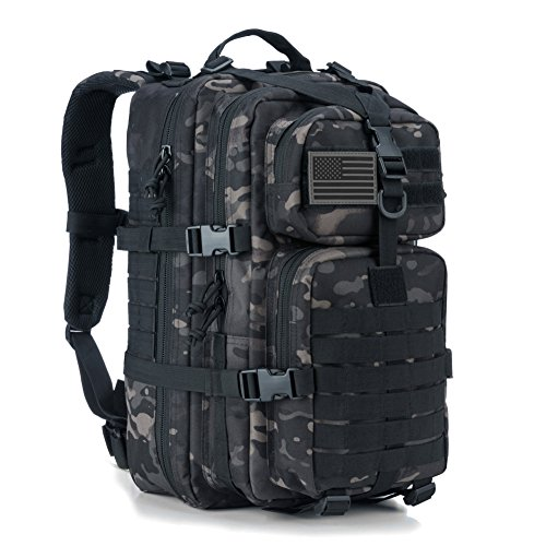 Military Tactical Backpack Small Assault Pack Army Molle Bug Bag Backpacks School Rucksack Daypack Black Camo