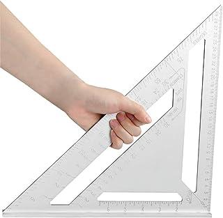 YOTINO Anschlagwinkeldreieck aus Aluminiumlegierung Dreieck Winkelmesser 90 Grad auf Imperial System 12 Zoll Imperial Anschlagwinkel für Zimmermann