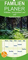 Waelder, fotografiert auf vier Kontinenten - Familienplaner hoch (Wandkalender 2022 , 21 cm x 45 cm, hoch): Waldlandschaften, fotografiert in Deutschland, USA, Namibia, Suedafrika, Tasmanien und Australien (Monatskalender, 14 Seiten )