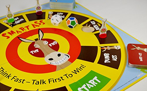 University Games Smart Ass The Ultimate Trivia Board Game for Families & Adults Ages 12 & Up, The Perfect Tabletop Game For Parties & Events, Model:1360