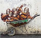 DIY Pintar por números Un Grupo de Monos Pintura por números para Adultos y niños Kits de Regalo de Pintura al óleo de Bricolaje Arte de Lienzo preimpreso Decoración del hogar