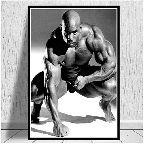 Wanghuan Fitness Gimnasio Deporte Estrella musculoso Pintura al óleo Lienzo póster Impresiones Pared Arte imágenes Sala de Estar decoración del hogar 40x50cm A-145