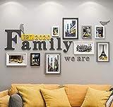 DENGJU Foto Rahmen Familie Collage Massivholz Kombination Wohnzimmer Bilderrahmen Wand Kreative...