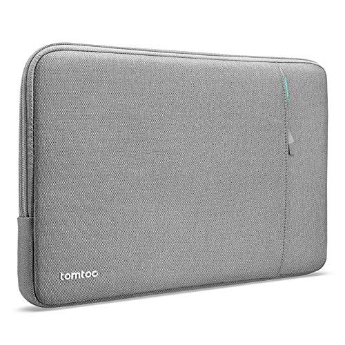 tomtoc Recycelt Hülle Tasche für 12,4-Zoll Microsoft Surface Laptop Go, 12,3-Zoll Surface Pro X/7/6/5, Dell XPS 13 Laptop 2020, Stoßfest Wasserdicht Laptop Schutzhülle mit Zubehörtasche, Grau