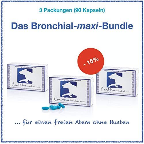 CaniMove bronchial Maxi Dreierpack - 90 Kapseln für große Hunde zur Anwendung bei Husten und zur Stärkung der Lungenfunktion