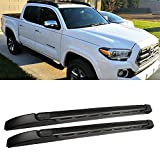 Gevog 1 Pair Black Roof Rack for 2005-2015 Tacoma Double (Crew Cab) Top Rail Cargo Carries