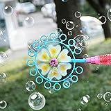 Cirdora Máquina De Burbujas para Niños Máquina De Burbujas Máquina Automática Burbujas De Jabon Niños De Forma De Molino De Viento Pompas Jabon Bubble Maker Juguetes para Niñas