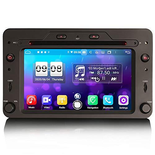 ERISIN 6.2 Zoll Android 10.0 Autoradio für Alfa Romeo 159 Sportwagon Brera Spider Unterstützt Carplay Android Auto DSP GPS-Navi Bluetooth A2DP DVB-T/T2 WiFi DAB+ 8-Kern 4GB RAM+64GB ROM