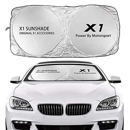 ZKL shop Cubierta del Tono del Sol del Parabrisas del Coche para BMW X5 E70 F15 G05 X1 F48 X3 F25 x6 E71 X2 F39 x4 F26 X7 G07 Accesorios Anti UV Reflector (Color : For X1)