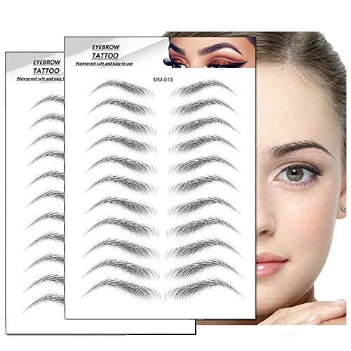 Augenbrauen Aufkleber, 22 Paare 4D Haarähnliche Authentic Augenbrauen Schablonen, Wasserdichte Natürliche Tätowierung Augenbrauenaufkleber, Aufkleber Falsche Augenbrauen, 4D Tattoo Augenbrauen