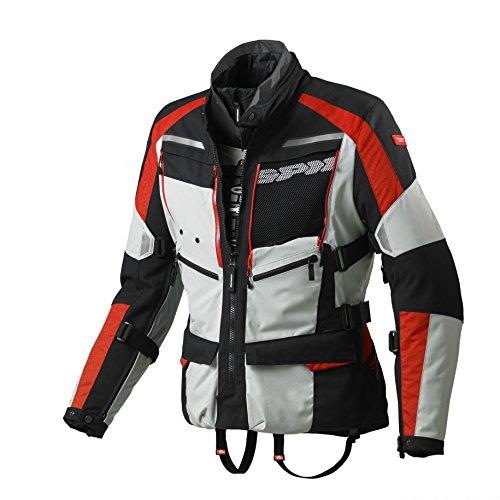 SPIDI 4Season H2Out Jacke, Grau/Rot, Größe XL