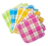 Best Dish Cloths - Honla Cotton Windowpane Kitchen Dish Cloths,Set of 8 Review