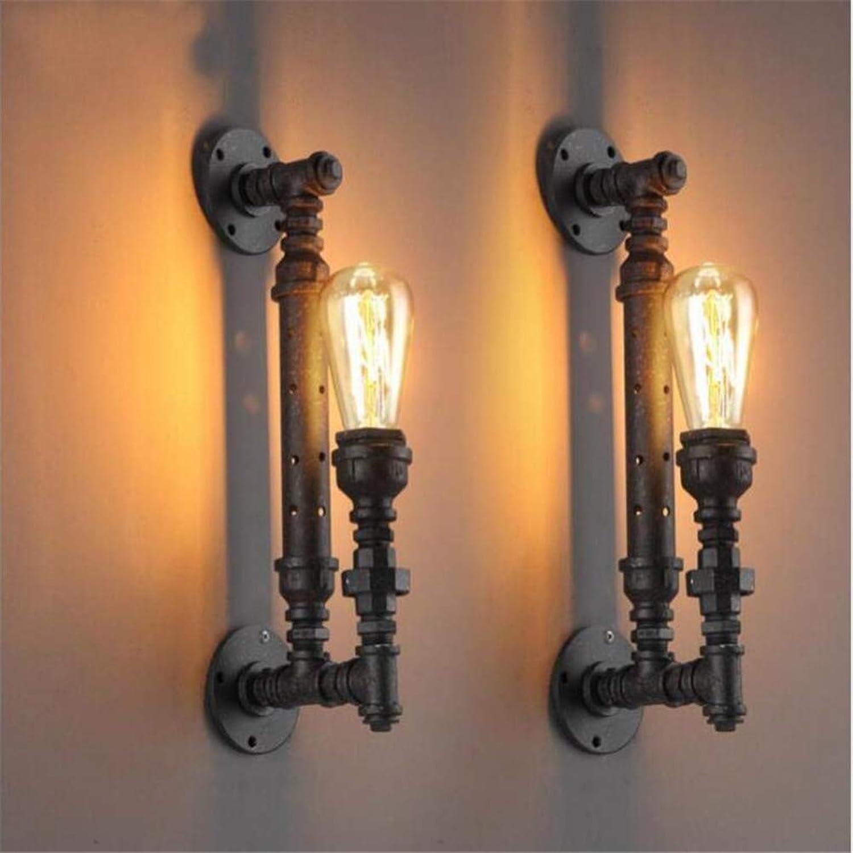OYHN Industrial Vintage Loft Wandleuchte Edison Iron Water Pipe Wandleuchte für Heimbeleuchtung E27 Wandleuchte