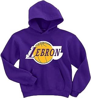 Purple Los Angeles Lebron Logo Hooded Sweatshirt