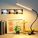 (2021 Upgraded) Led Clip On Light,Large Book Reading Light,10W Desk Lamps with USB Plug in,Clamp Lights Bedbesides Headborard Piano,3 Color Temp+11 Level/Stepless Dimmer (3Yrs Replace Warranty)