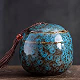 lylqmy Small Ceramics Urn, Keepsake Urns for Human Ashes, Mini Cremation Urns - Fits a Small Amount of Cremated Remains - Display Burial at Home or Office Decor