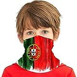 Bandera de Pintura de Acuarela Realista Portugal Negocios Finanzas Educación Cara Bufanda Cubierta Niños Cara Cubierta Variedad Cuello Diadema
