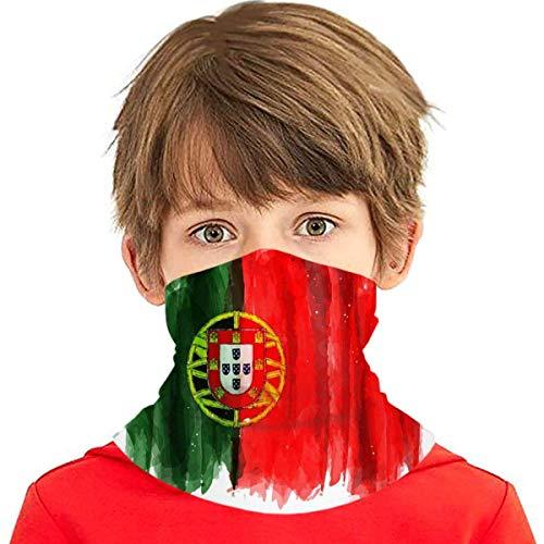 dogdoh Realista Pintura a la Acuarela Bandera Portugal Negocios Finanzas Educación Cara Bufanda Cubierta Deporte al Aire Libre Correr Niños Cubierta Facial Variedad Toalla Facial Cuello Diadema