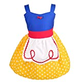 Dressy Daisy Princess Dress Summer Dresses for Baby Girls with Apron Size 18-24 Months Yellow