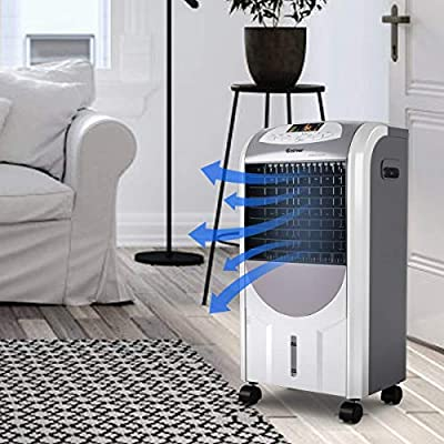 Multigot 5 In 1 Air Cooler, Purifier, Humidifier, Heater & Fan, Air Conditioner with 8 Hours Timer and Remote Control, 7L Water Tank