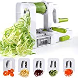 Spiralizer 5-Blade Vegetable Spiralizer Sedhoom Foldable Spiral Slicer Zucchini Noodle & Veggie Pasta