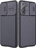 Hülle Kompatibel mit Samsung Galaxy S21 5G/S30, CamShield Schiebekamera Abdeckung Handyhülle Kompatibel mit Samsung S21 5G, Rosyheart Ultra Dünn Hybrid Schutzhülle Anti-Rutsch Hülle Cover-Schwarz