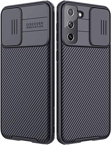 Funda Compatible con Samsung Galaxy S21 5G/S30, Protección de Cámara Carcasa Compatible con Samsung S21 5G, Rosyheart Cubierta Deslizante para Cámara Delgado Ligera Rígida PC Anti-Golpes Caso-Negro
