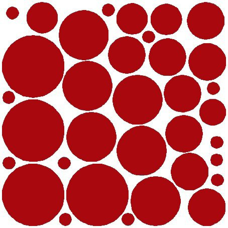N.SunForest 34 Red Polka Dots Vinyl Wall Decals Removable Décor Stickers Home Kitchen Baby Nursery Wall Art Mural