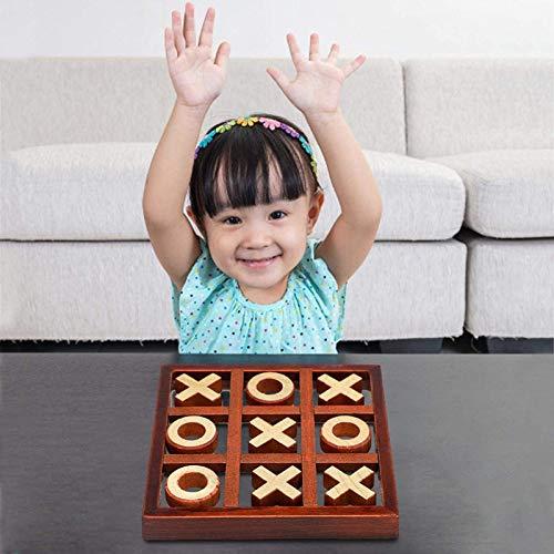 KZJIEZH Decoraciones para el hogar, Tic-Tac-Toe, Juego de mesa, Juegos de Cafetería para Niños Adultos, Juego de Familia, Juego de artesanías de bricolaje, Juegos de mesa de madera de Rompecabezas, pa