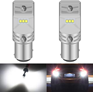 KaTur 1157 BAY15D 1016 1034 7528 LED Bulb High Power CSP Chips Extremely Bright 1600 Lumens 6500K Xenon White Replace for Back up Reverse Brake Tail Turn Signal Lights,Pack of 2