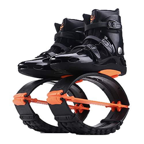Fitness Jump Shoes Für Erwachsene und Kinder, Bounce Shoe Jumps Rebound Schuhe, Unisex Fitness Jump Running Boots Dance Bounce Shoes Anti-Gravity Bouncing Schuhe (Orange Black, L(Size 36/38))