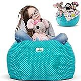 Kroco Stuffed Animal Storage Bean Bag Chair for Kids Room | Stuff n sit Toy Storage Bags | Beanbag...