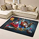 Wlkecgi Super Mario - Alfombra infantil para dormitorio de niños (180 cm x 210 cm), diseño de Mario Super Mario Odyssey