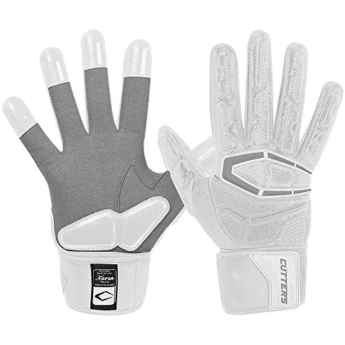 Cutters S932 Force 3.0 Lineman Modell 2018 American Football Gloves - weiß Gr. XL