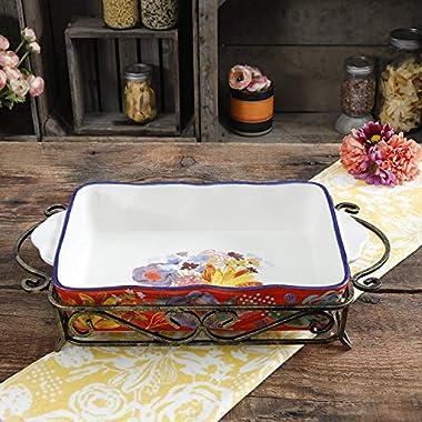 The Pioneer Woman Spring Bouquet 2-piece Ceramic Bakeware Set
