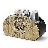 Cthulhu Vitruvian - Caja de almacenamiento para mando a distancia, multifuncional con 5 compartimentos para mandos a distancia, cepillo de maquillaje, papelería y gadgets
