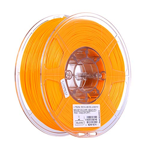 YANHAI PETG 3D Printer Filament 1.75mm, With High Strength and Better Transparent, for 3D Printers,1KG yellow