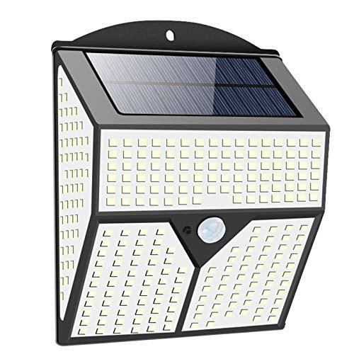 pedkit Lâmpada solar de indução humana externa para pátio Lâmpada de parede à prova d'água IP65 60㎡ Área de iluminação Luz branca 318LED 436LED