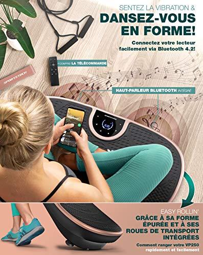 Nouveauté d'exposition! Plaque vibrante VP250 au design élancé| brûleur de graisse, développement musculaire| moteur silencieux avec 180 niveaux| 7+1 entraînement, option yoga| haut-parleur Bluetooth