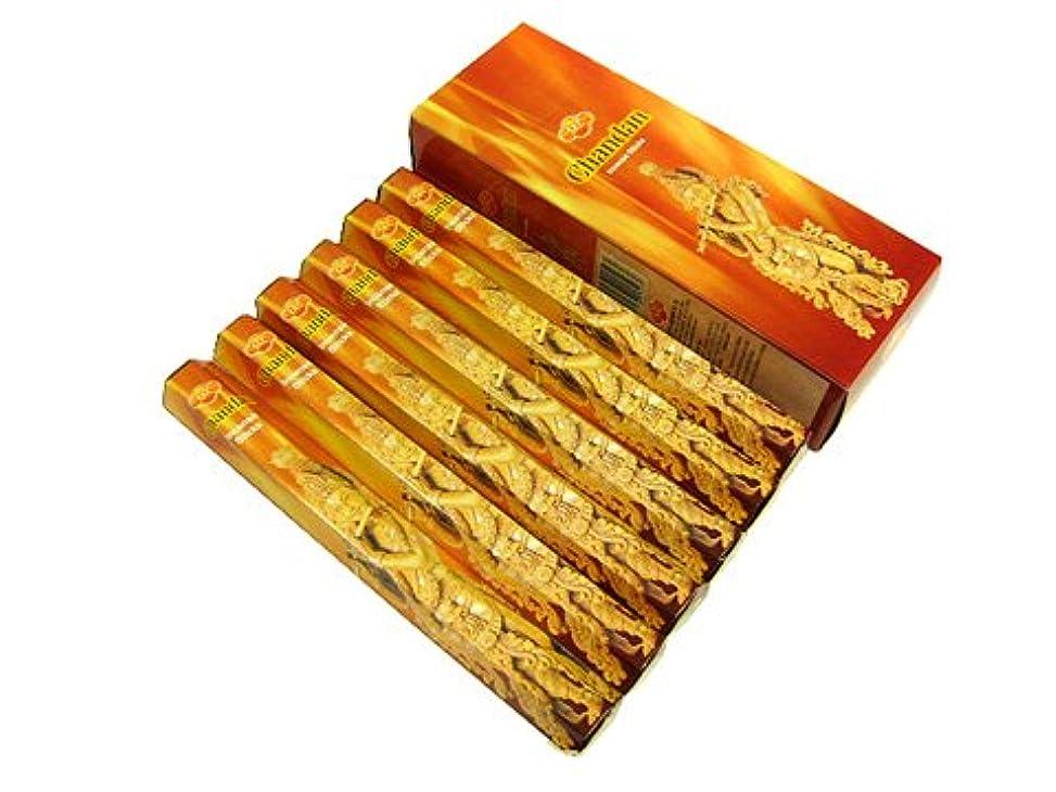 パウダーに応じて行商人SANDESH SAC (サンデッシュ) チャンダン香 スティック CHANDAN 6箱セット