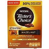 Nescafe Taster's Choice 16 Piece Hazelnut Instant Coffee Beverage Single Serve Sticks, 1.69 oz by Nescafé
