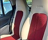 TOPCAR-ATHENS | Ecopelle (Beige Chiaro - Zucchero) & Bicolore (Rosso e Nero) Sintetica | Due Auto Coprisedili, Compatibile con Smart FORTWO (451)