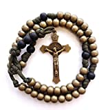 Rugged Soldier Paracord Rosary in Military Olive Drab