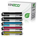 5 Kineco Toner kompatibel zu HP CE310A CE311A CE312A CE313A Laserjet Pro 100 Color MFP M175, M 275, Color Laserjet Pro CP1025nw, CP1028nw - 126A - Schwarz je 1.200 Seiten, Color je 1.200 Seiten